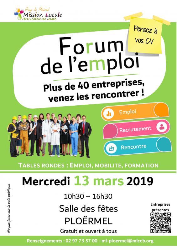 Forum de l'emploi de Ploërmel