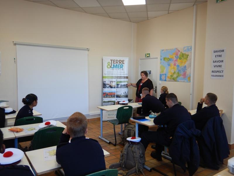 Intervention auprès des jeunes du Centre Service Militaire Volontaire de Brest
