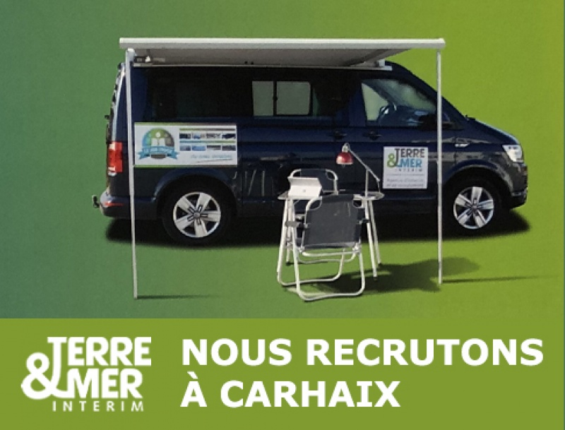 Le Job-truck TERRE & MER recrute à Carhaix !